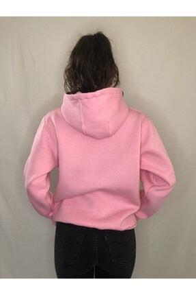 alyeonline Kadın Pembe Basic Sweatshirt 1