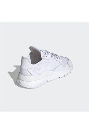 adidas Erkek Beyaz Nite Jogger Günlük Spor Ayakkabı 3