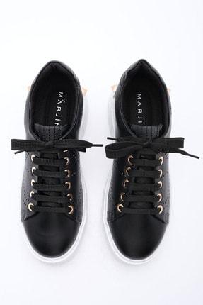 Marjin Kadın Siyah Sneaker Spor Ayakkabı Volares 4