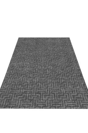 EVİMOD Grey Moderno Yıkanabilir Kaymaz Taban Dekoratif Halı Kilim 30701 1