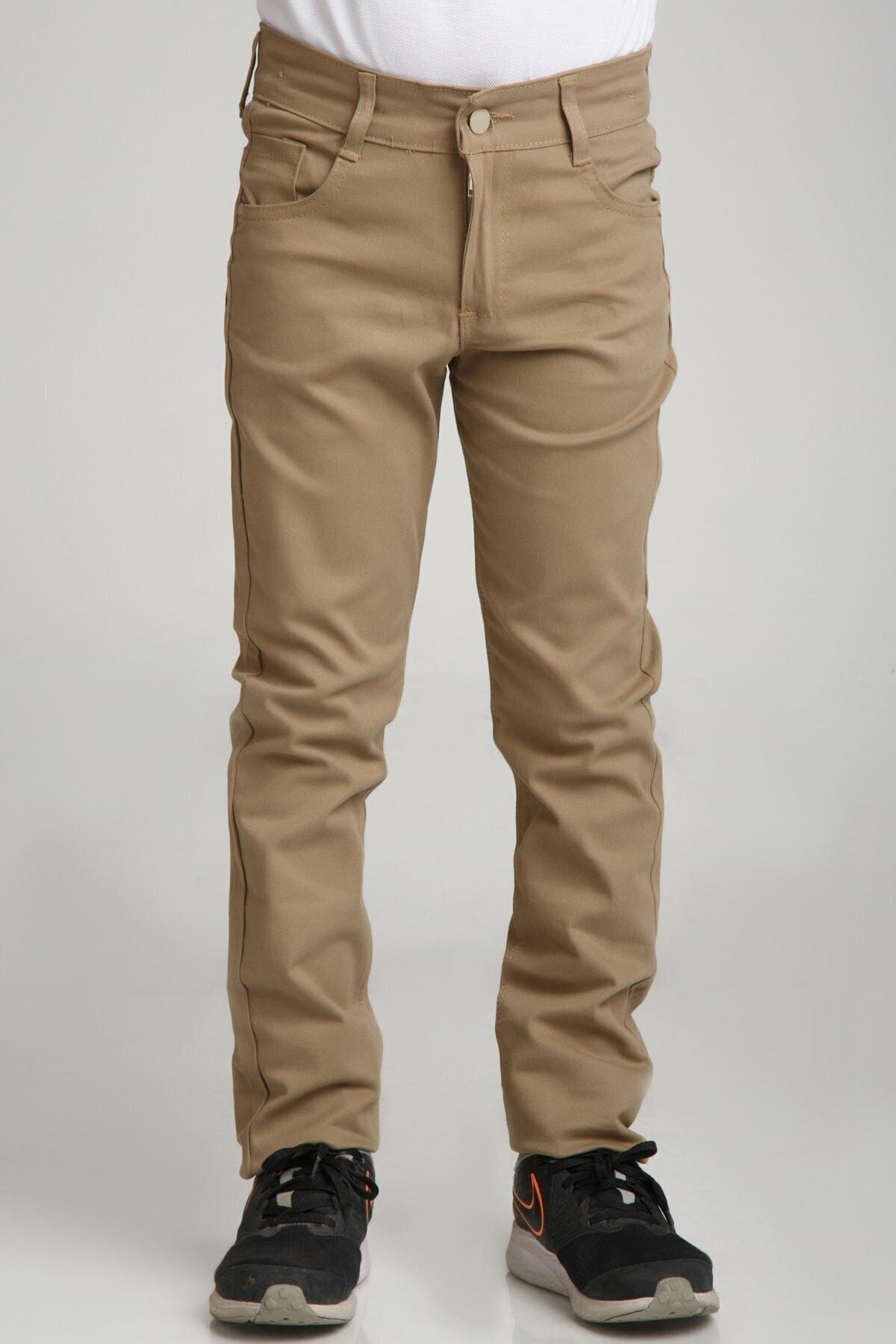 Unısex Spor Model Camel Canvas Pantolon