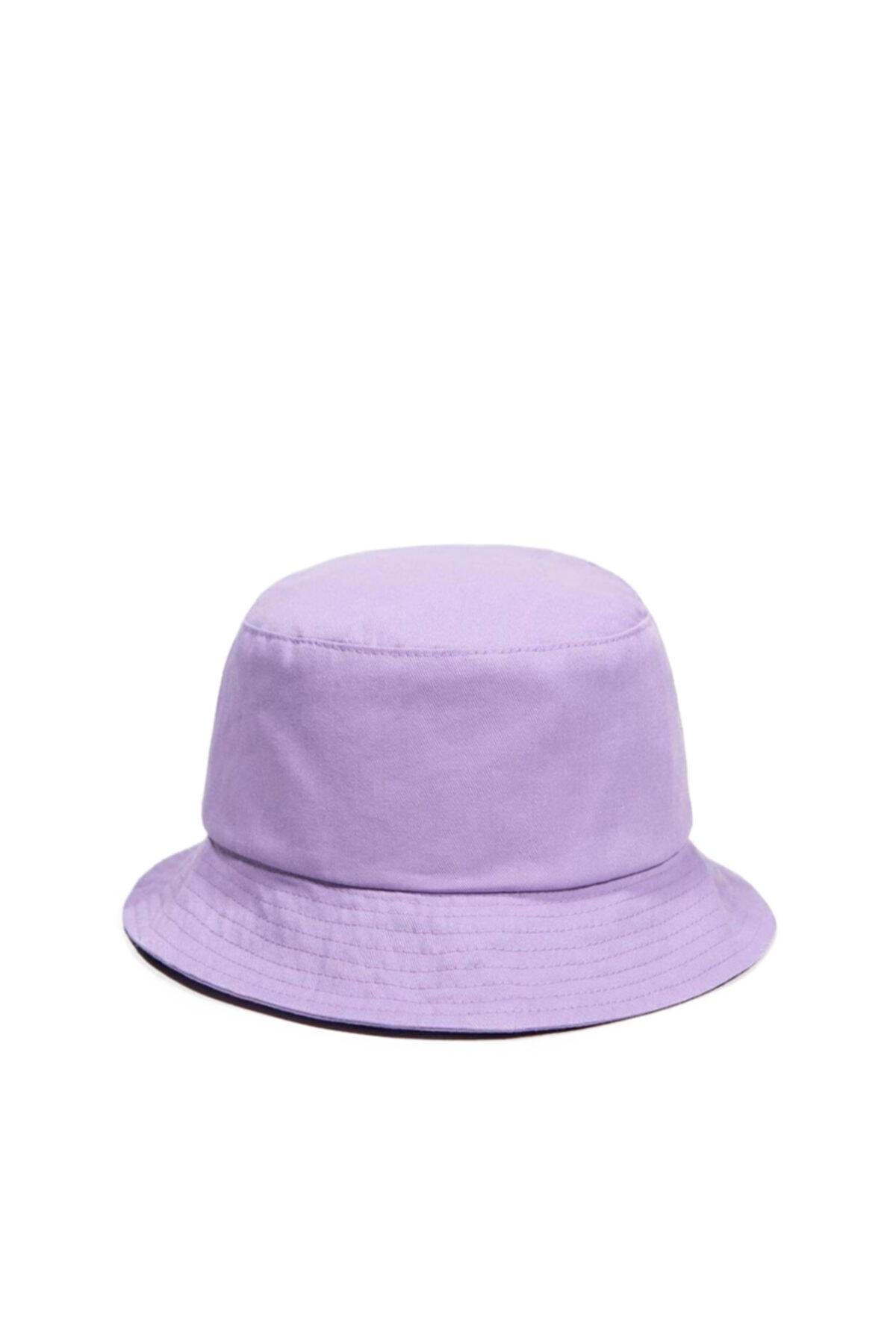 Unisex Lila Balıkçı Bucket Şapka Gc013920