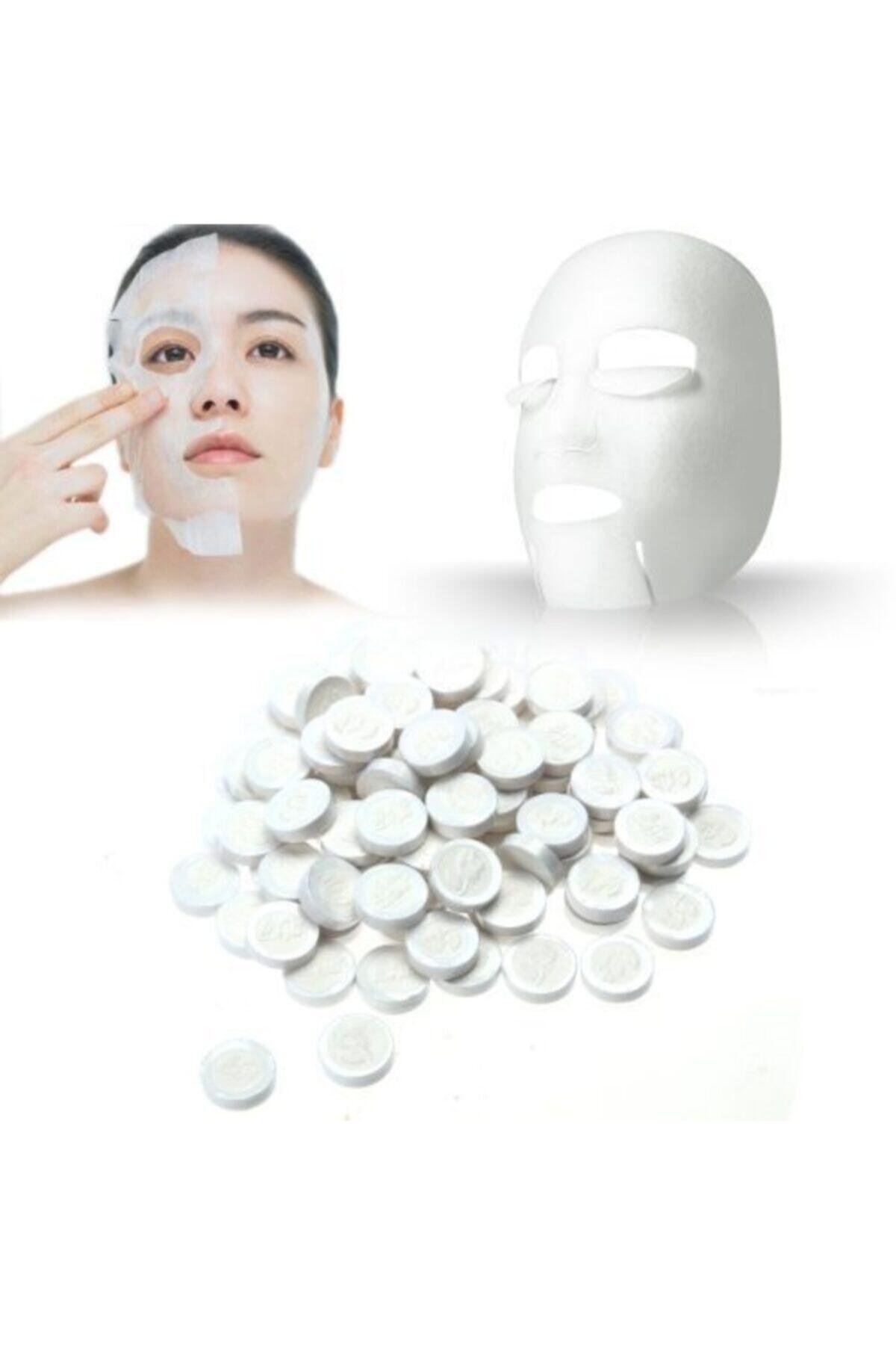 50 Adet Sıkıştırılmış Kağıt Yüz Maskesi