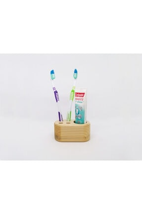 Ahşap Diş Fırçalık & Macunluk Banyo