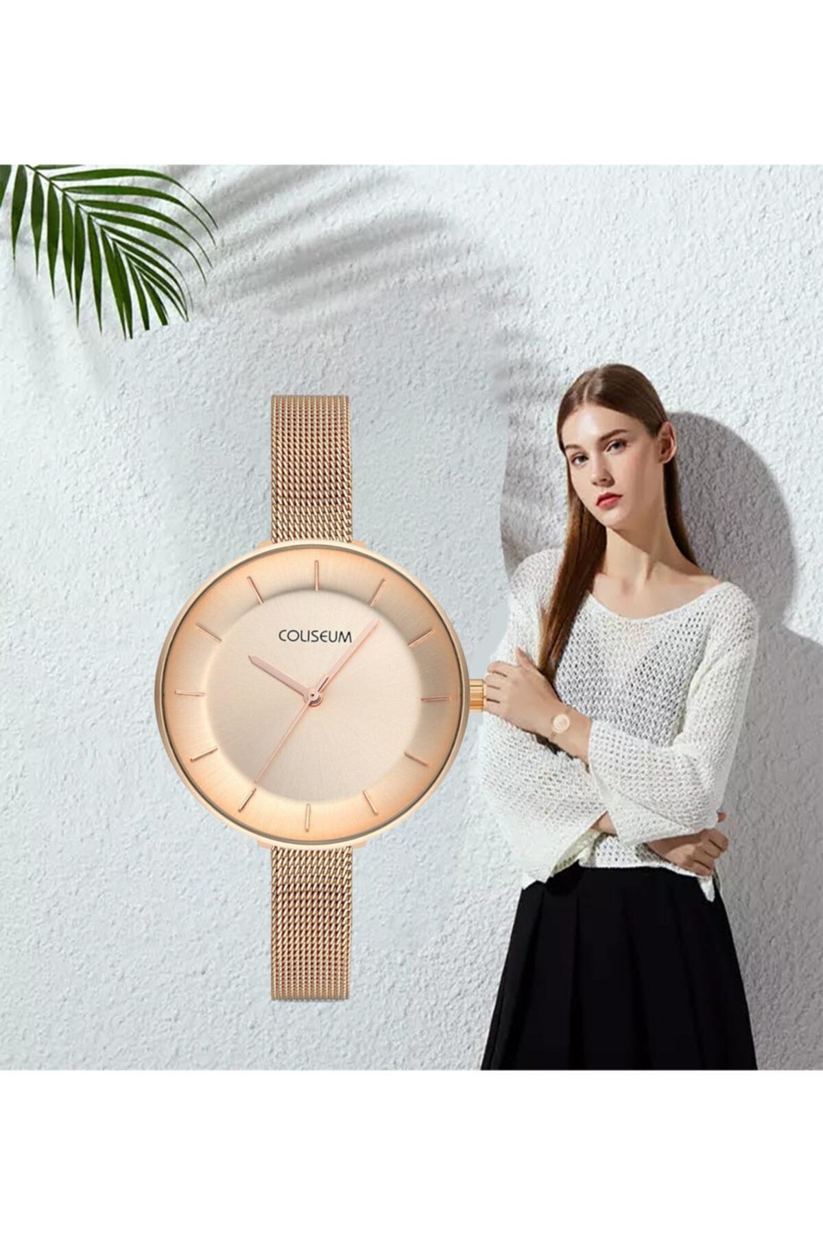Kadın Kol Saati Moda Trend Bayan Kol Saati Rose Gold