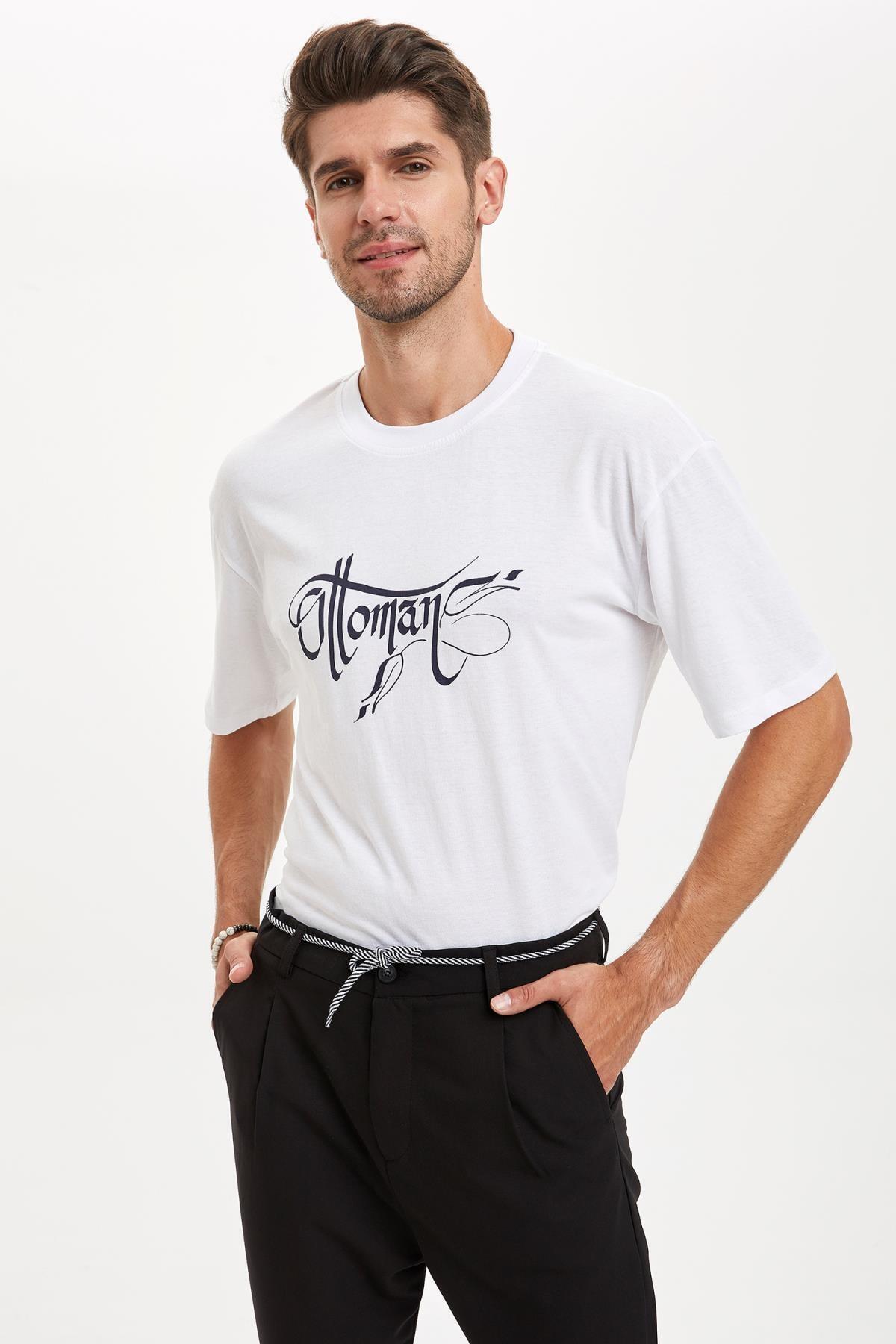 Osmanlı Temalı Oversize Fit Pamuklu Tişört