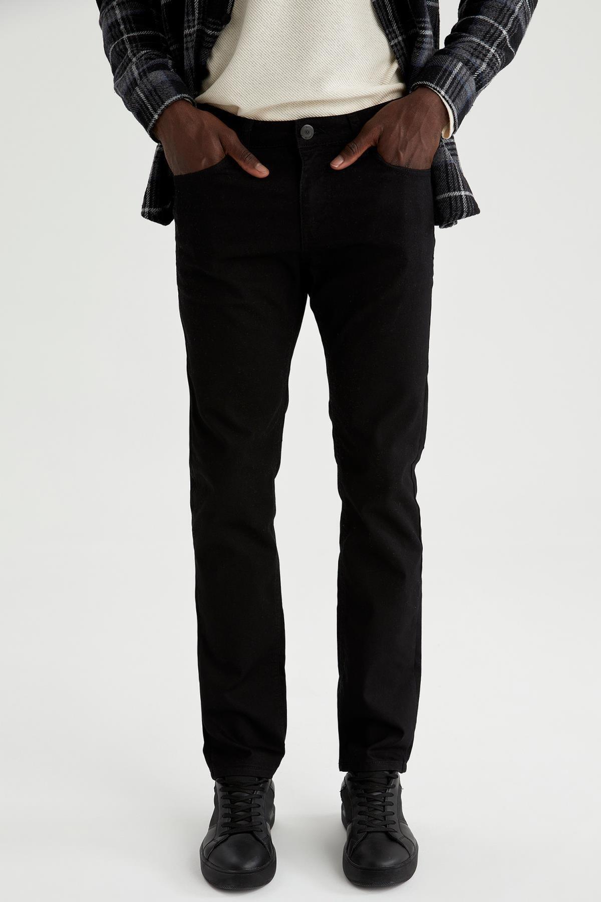 Sergio Regular Fit Normal Bel Boru Paça Siyah Jean Pantolon