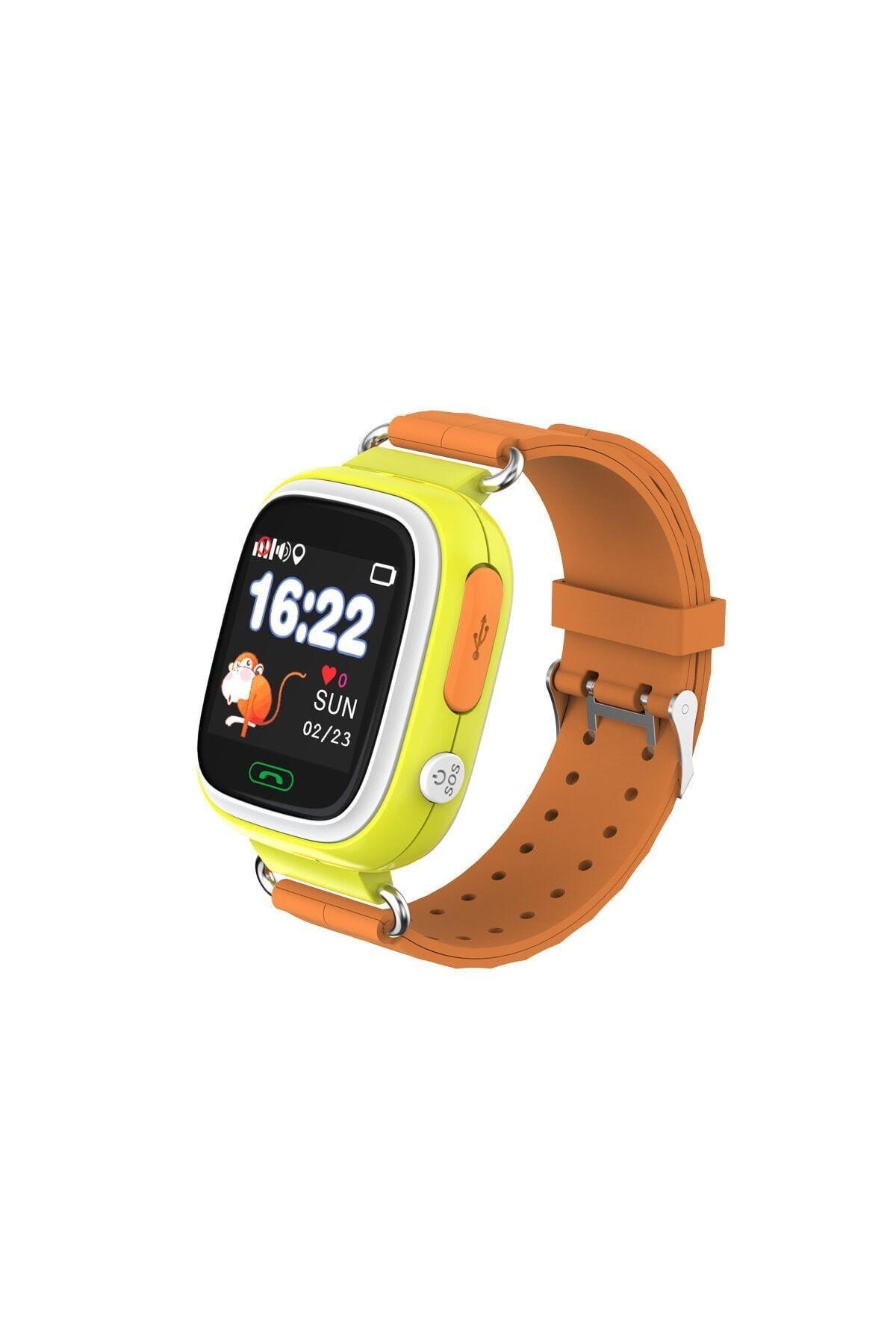 Akıllı Saat - Çocuk Takip Saati - Gps - Sim Kartlı Arama - Sarı
