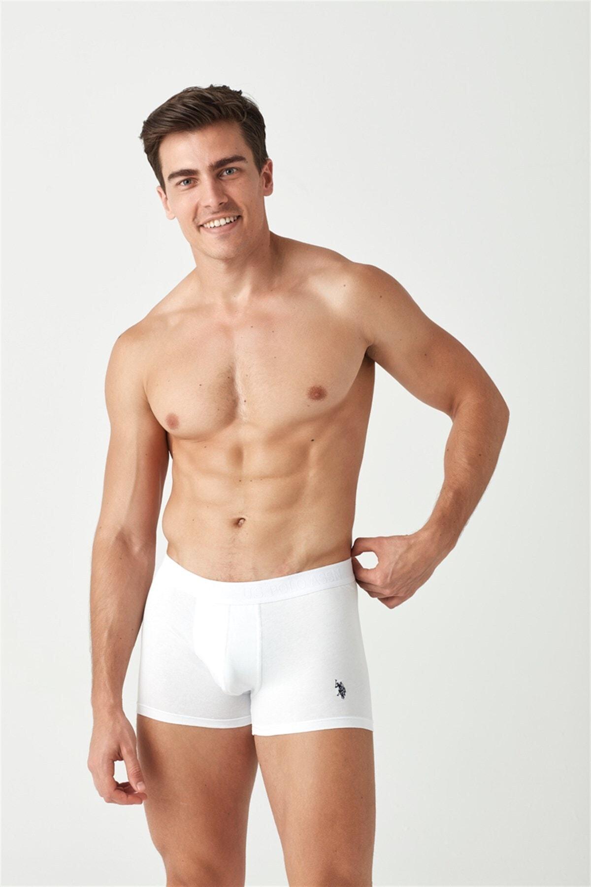 Erkek Beyaz - Siyah 2 Li Boxer