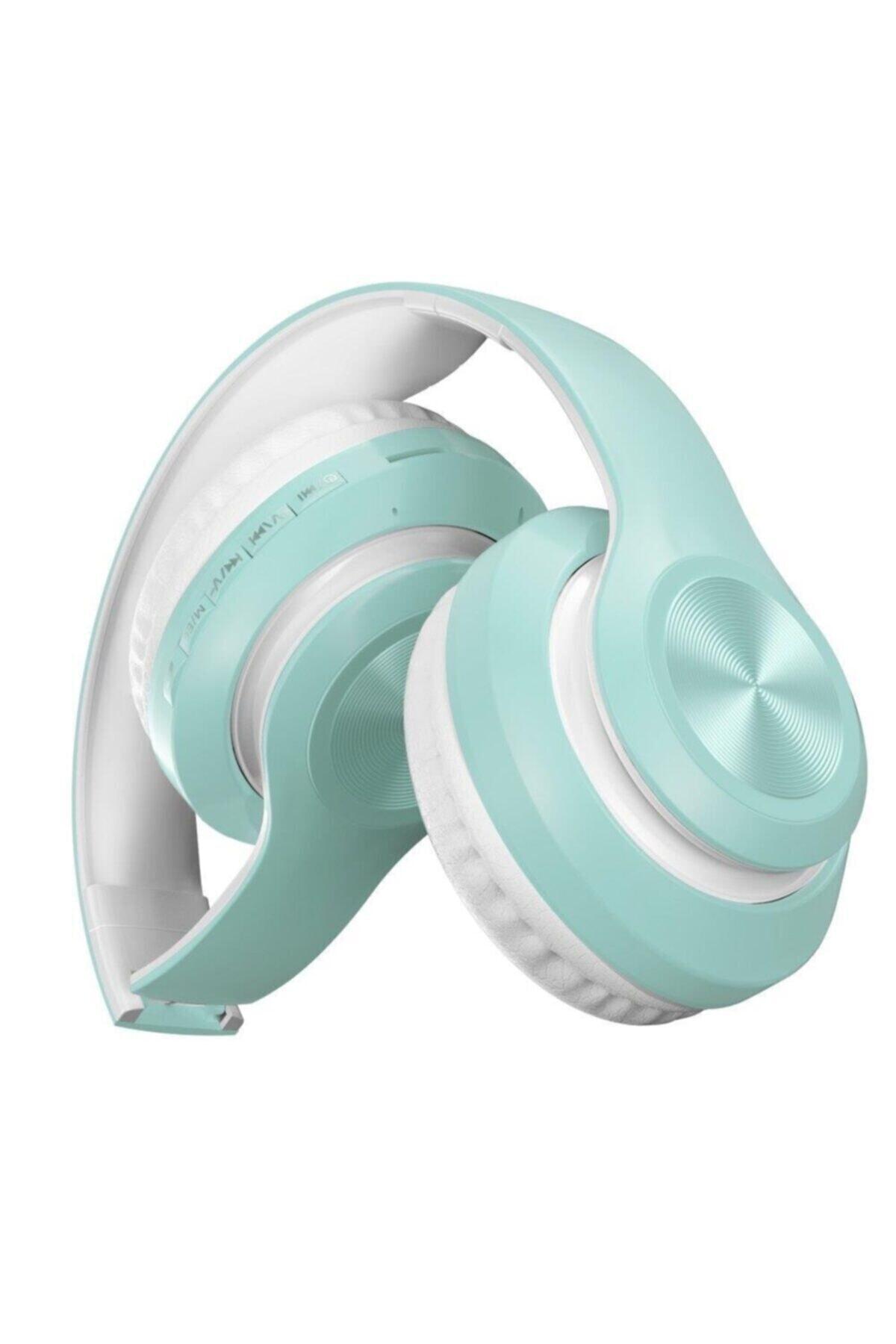 P68 Bluetooth Kablosuz Stereo Kulaklık - Turkuaz