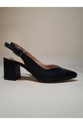 Arkası Açık Topuklu Küt Topuklu Bayan Topuklu Ayakkabı 4739