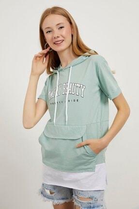 Picture of Angry Beauty Baskılı Kapüşonlu T-shirt