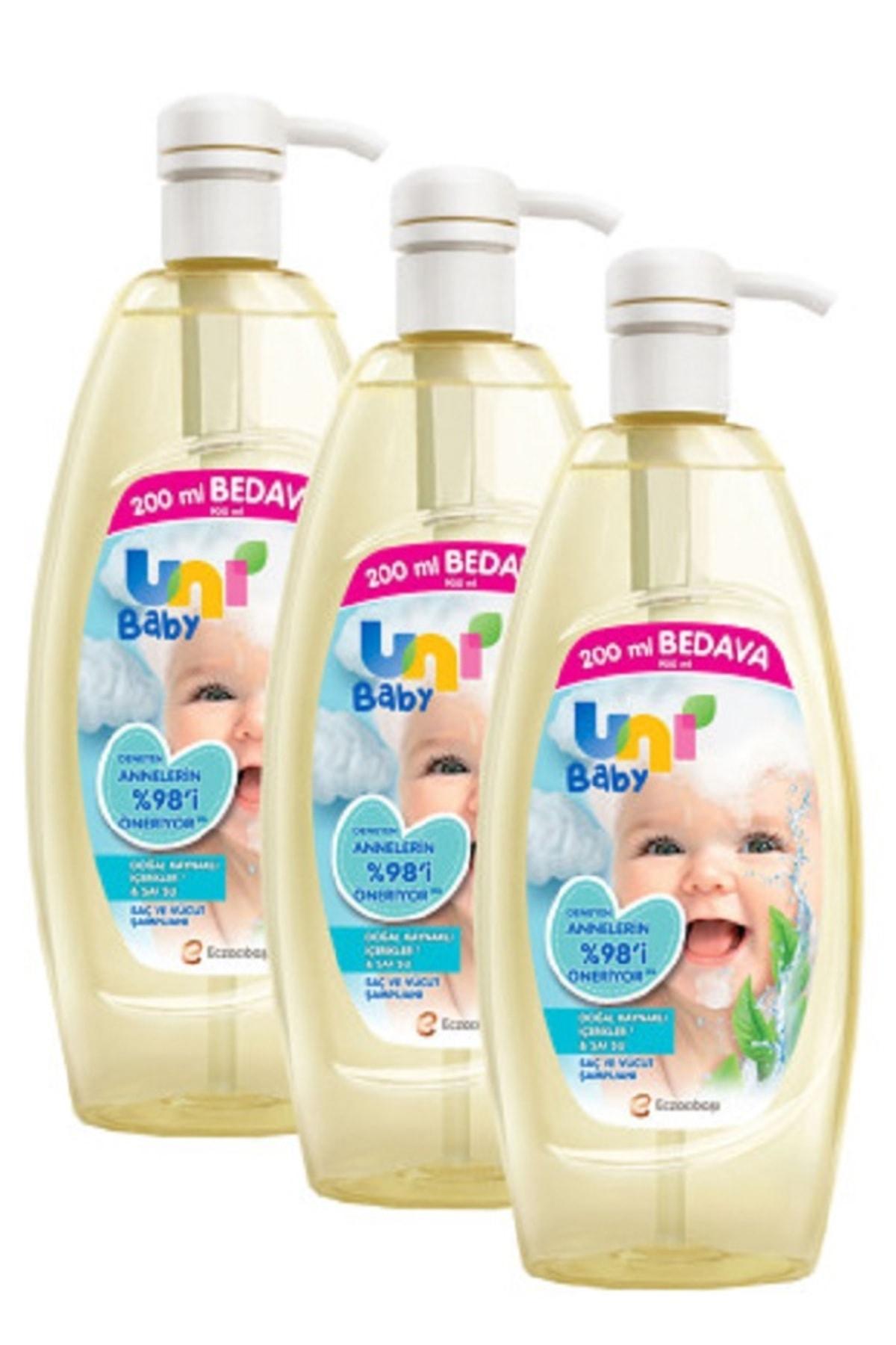 Şampuan Boyasız Pompalı Bebekler İçin 3'lü Set 900 ml