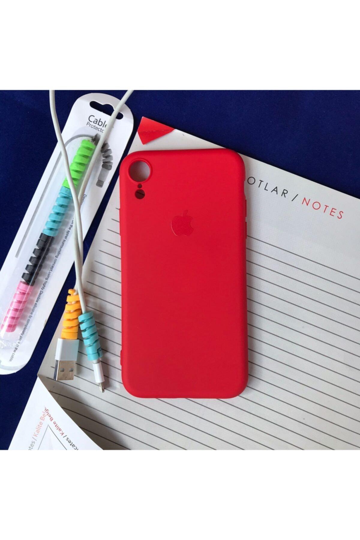 Iphone Xr Logolu Lansman Kılıf+kablo Koruyucu