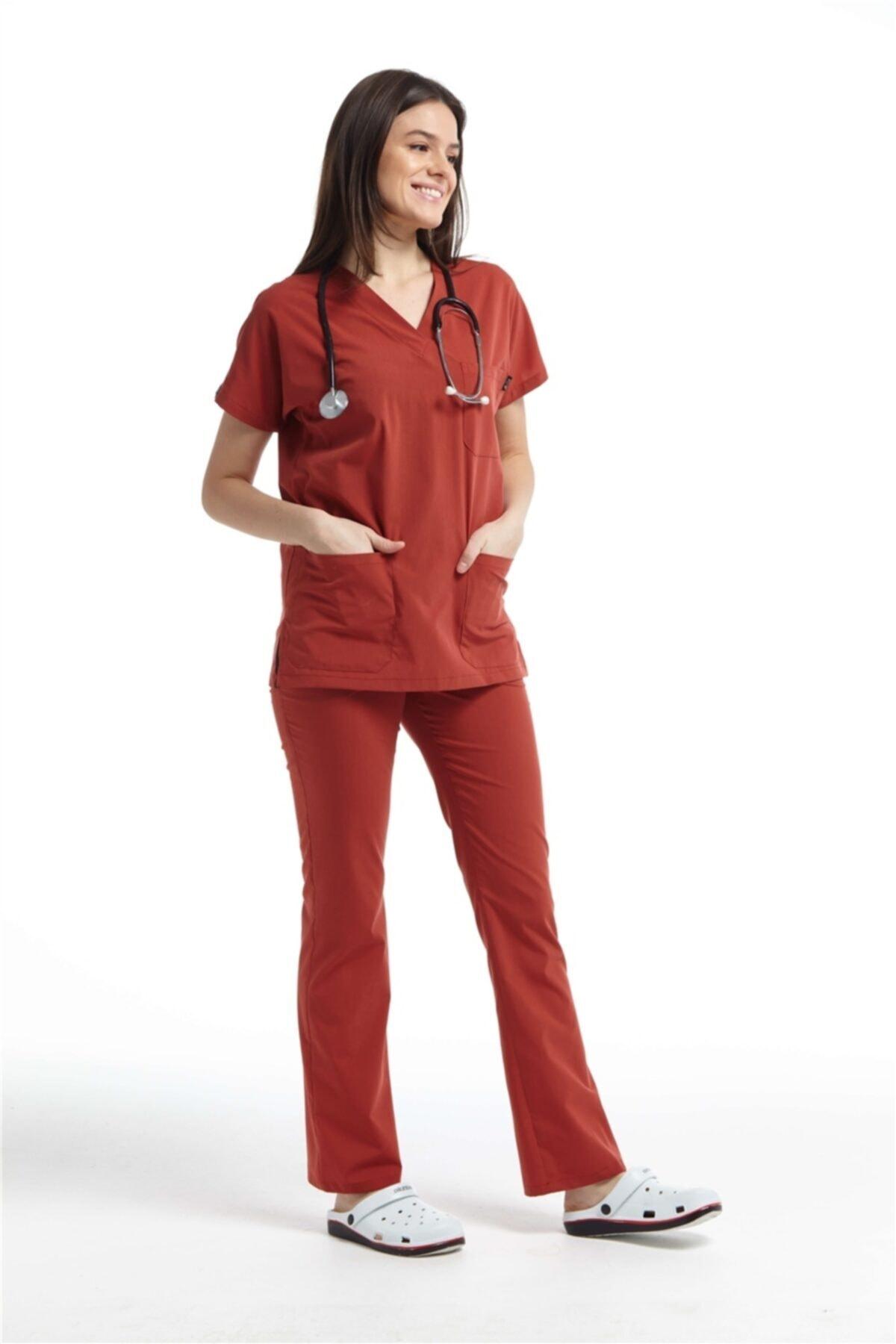 Ultralycra Spaniard - Doktor Hemşire Forma Takımı (KADIN), Kiremit