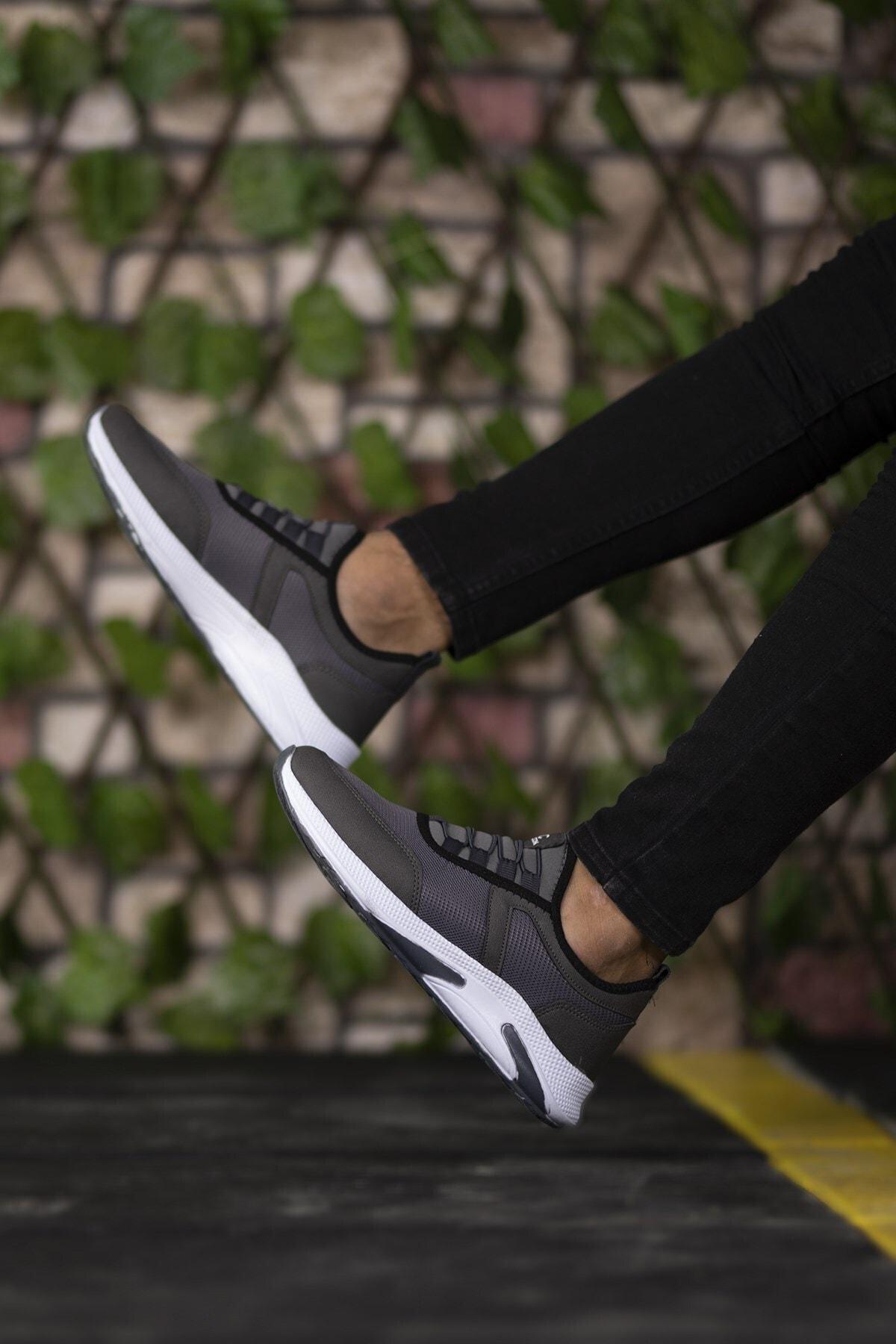 Füme Beyaz Unisex Sneaker 0012035