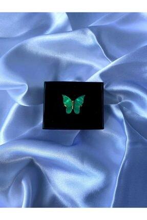 Fairytale Zümrüt Yeşili Kelebek Yüzük (8) 1083