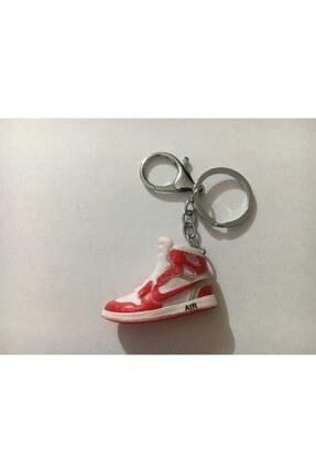 Ayakkabı Detaylı Kırmızı Beyaz Anahtarlık sdvewsd