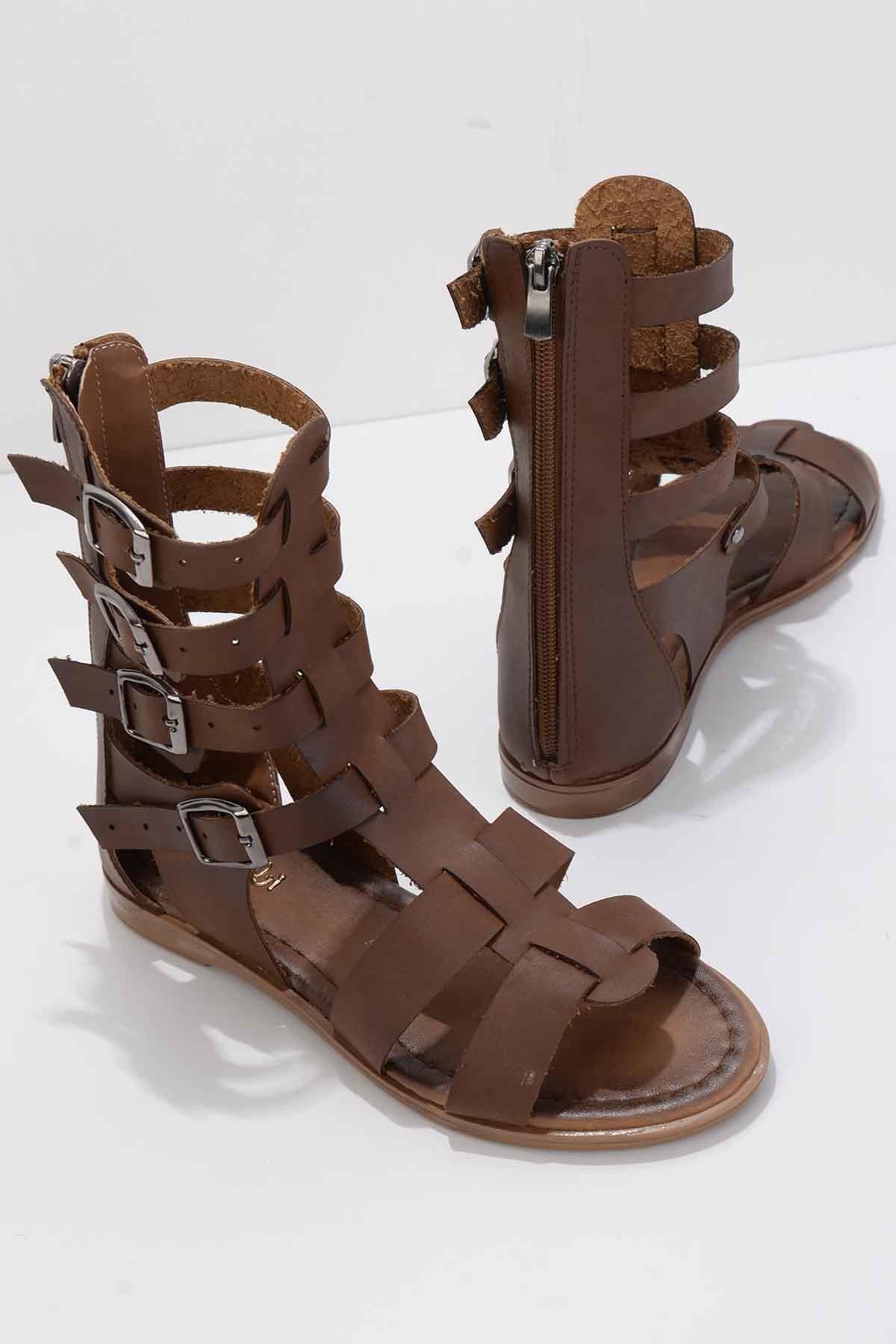 Kahve Kadın Sandalet K01942030009