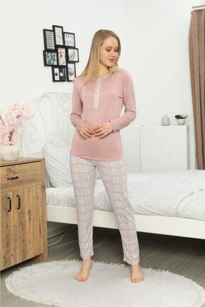 5641 Kadın Uzun Kol Pijama Takımı Kshop.5641
