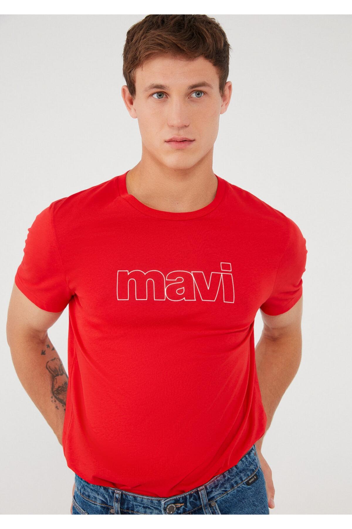 Logo Baskılı Kırmızı Tişört 065781-33099