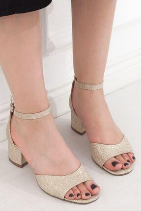 Altın Kadın Topuklu Ayakkabı A202YSTM0015