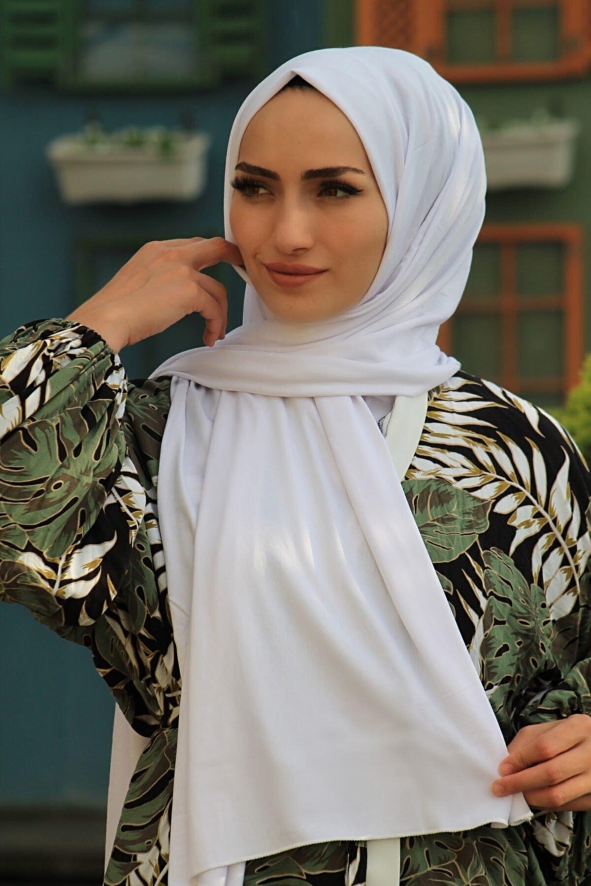 Kadın Beyaz Penye Şal