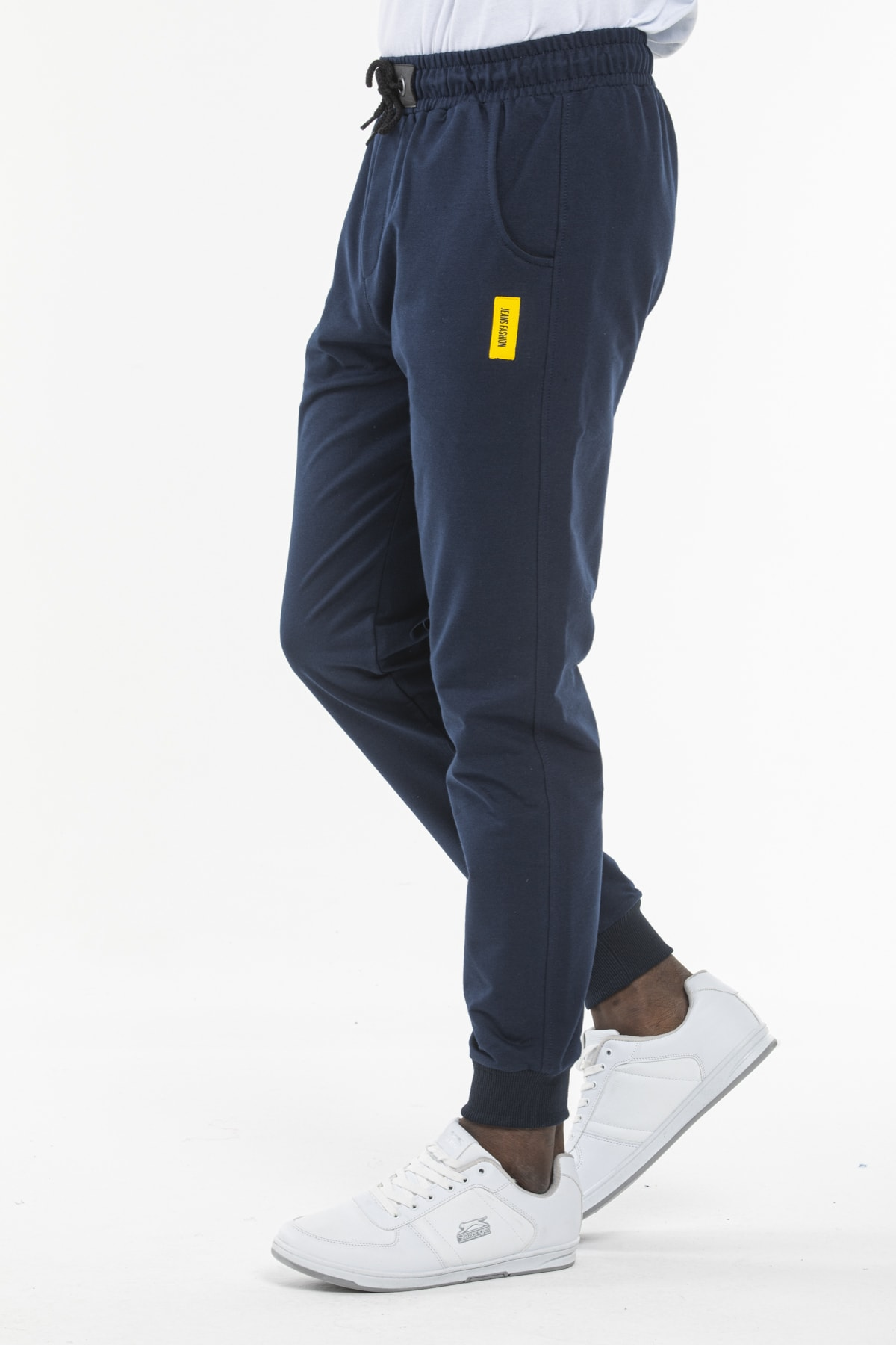 Erkek parlement mavisi şık günlük eşofman altı jeans fashion
