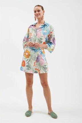 Kadın Dkm Desenli Gömlek A2476GMK21Y