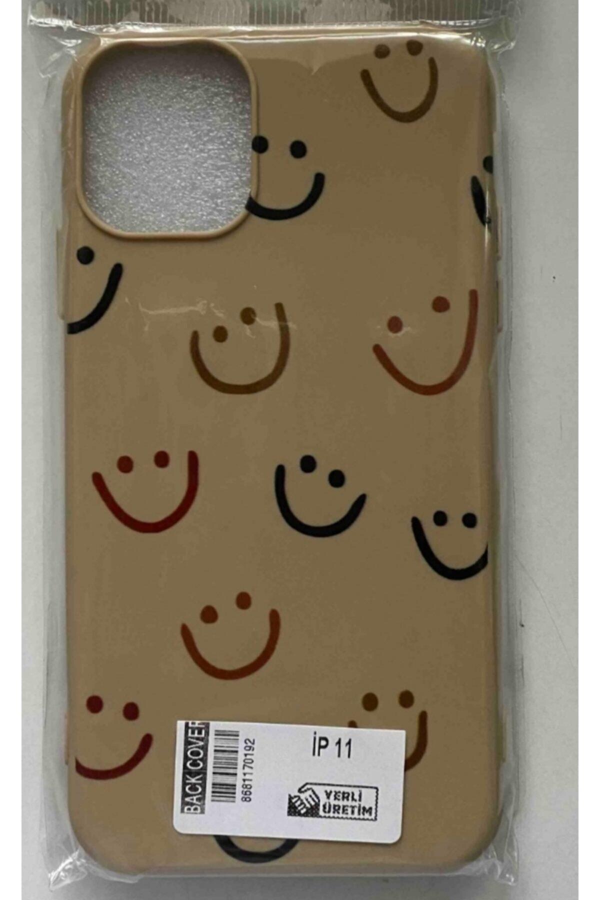 Iphone 11 Smile Desenli Baskılı Koruyucu Beyaz Kılıf