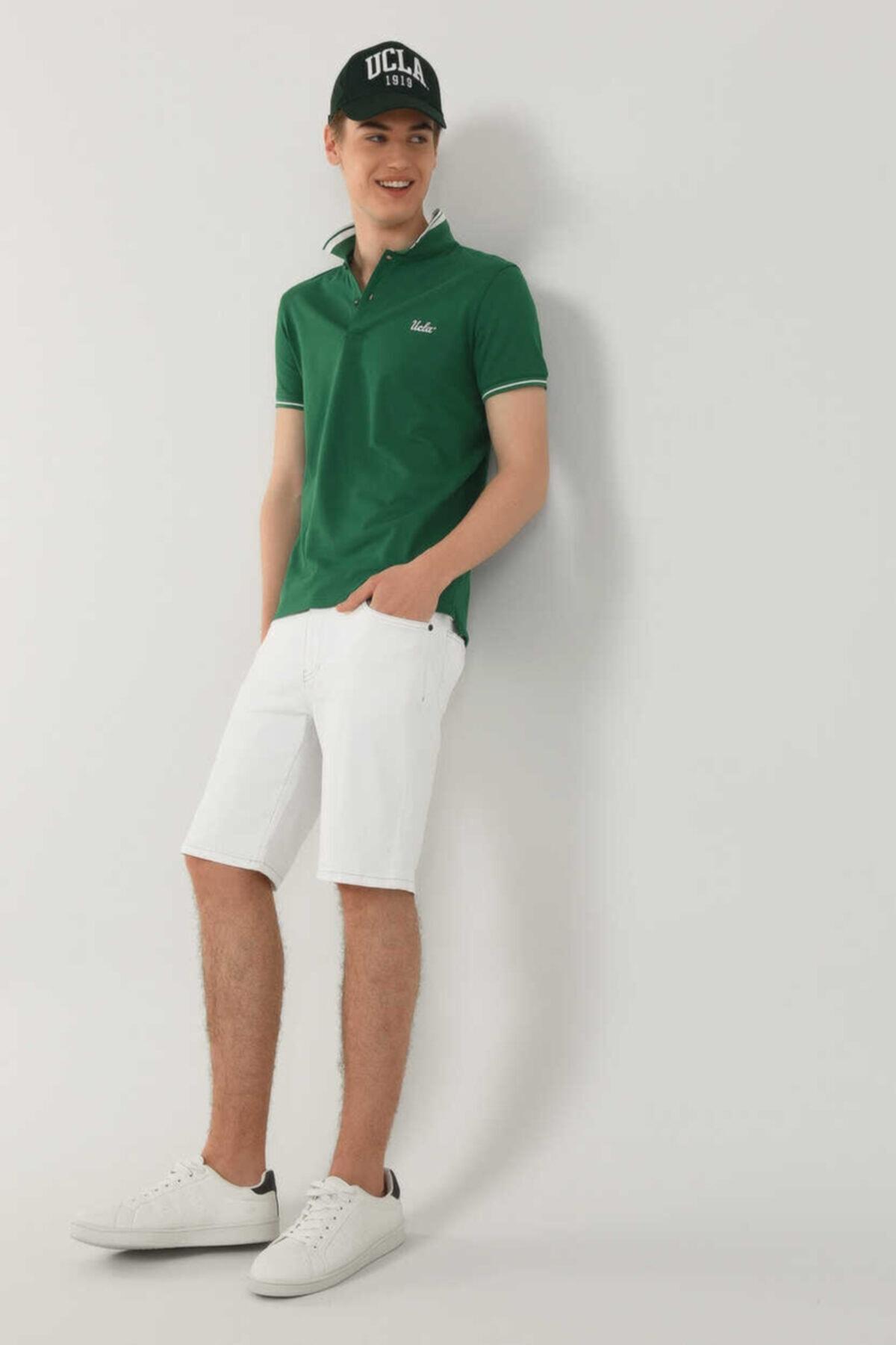 Erkek Yeşil Polo Yaka Hammer T-shirt