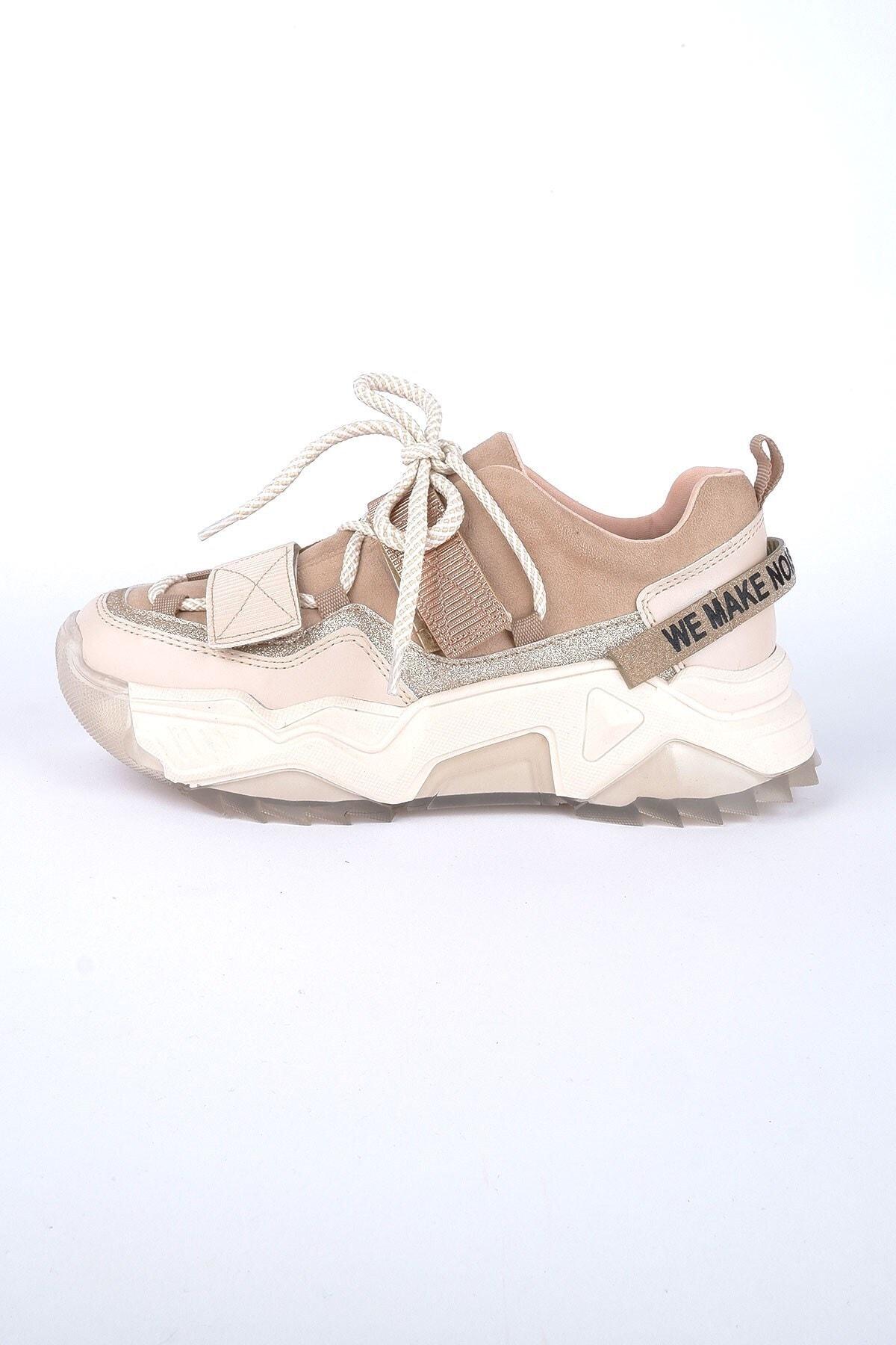 Kadın Spor Ayakkabı Bej-rose Multi