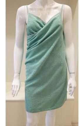 Su Yeşili Havlu Plaj Elbisesi Havuz Kıyafeti Biyeli Plaj Eteği Hamam Sauna Eteği Askılı Peştamal Askılı Plaj Elbisesi