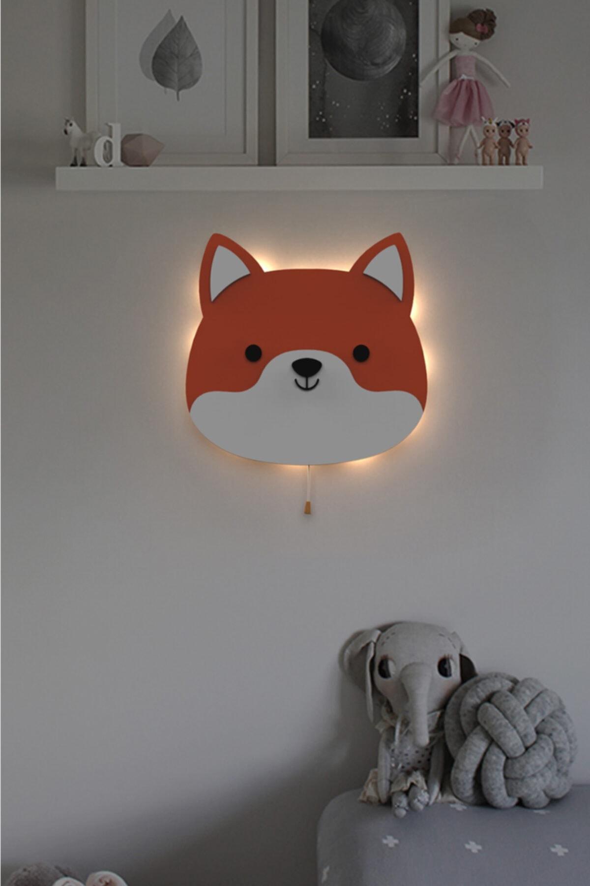 Çocuk Odası Dekoratif Sevimli Tilki Gece Lambası Led Aydınlatma