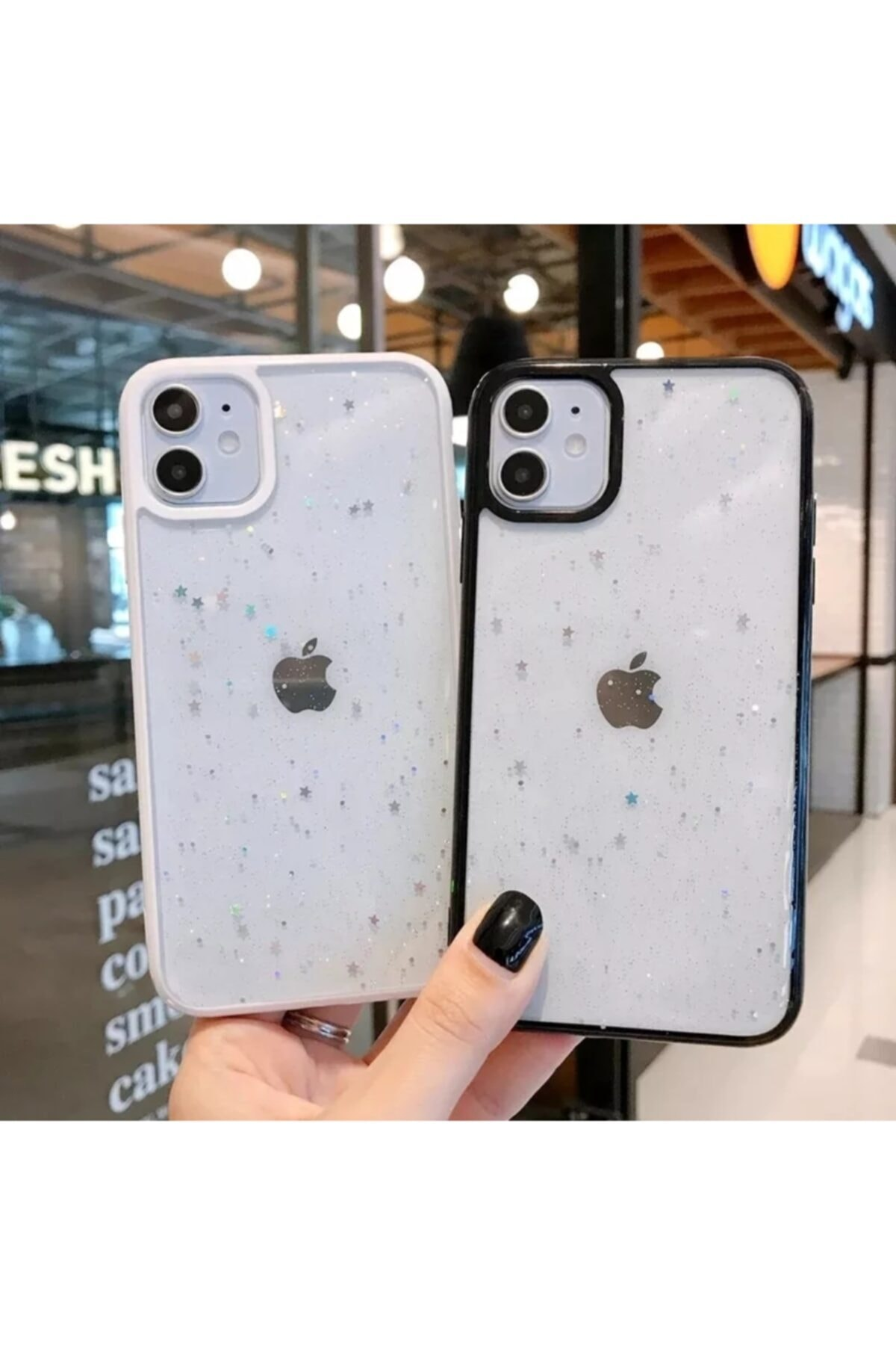 Phone 11 Kenarı Beyaz Renkli Simli Darbe Önleyici Silikon Kılıf
