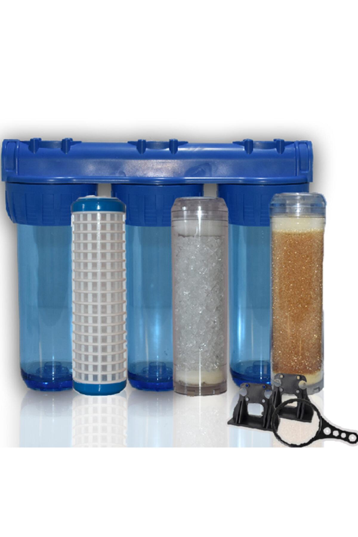 Daire Bina Sayaç Girişi 3 Aşama Su Arıtma Cihazı ( Ağır Kireç Önleyici Yumuşatma Sistemi )