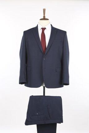 Lacivert Mono Yaka Büyük Beden Takım Elbise JK36BT02M002