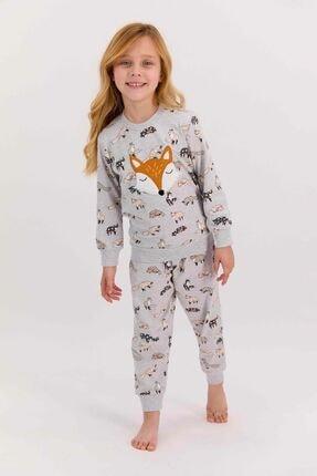تصویر از 1439 Foxes Karmelanj Kız Çocuk Uzun Kol Pijama Takımı