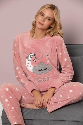 ELİTOL Kadın Pudra Welsoft Pijama Takim 0