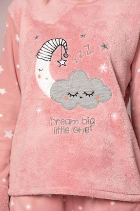 ELİTOL Kadın Pudra Welsoft Pijama Takim 2