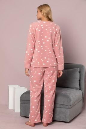 ELİTOL Kadın Pudra Welsoft Pijama Takim 3