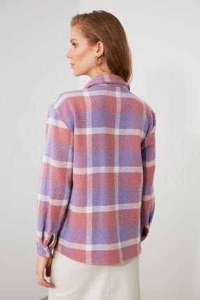 TRENDYOLMİLLA Lila Cep Detaylı Gömlek TWOAW21GO0631 4