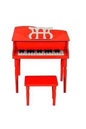 Durbuldum Çocuk Için Ahşap Piyano Bp30rd Nota Sehpası Ve Tabure Hediyeli 1