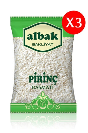 Albak Basmati Pirinç X3 Adet 1 Kg 0