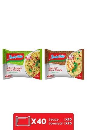 Indomie Indomie 40'lı Mix (spesiyal - Sebze) Hazır Noodle Paket 0
