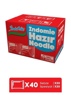 Indomie Indomie 40'lı Mix (spesiyal - Sebze) Hazır Noodle Paket 3