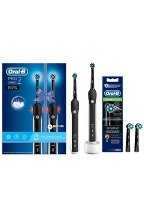 Oral-B Pro 2900 Siyah 2'li Avantaj Paket Diş Fırçası Black + Siyah Yedek Başlık 2'li 0