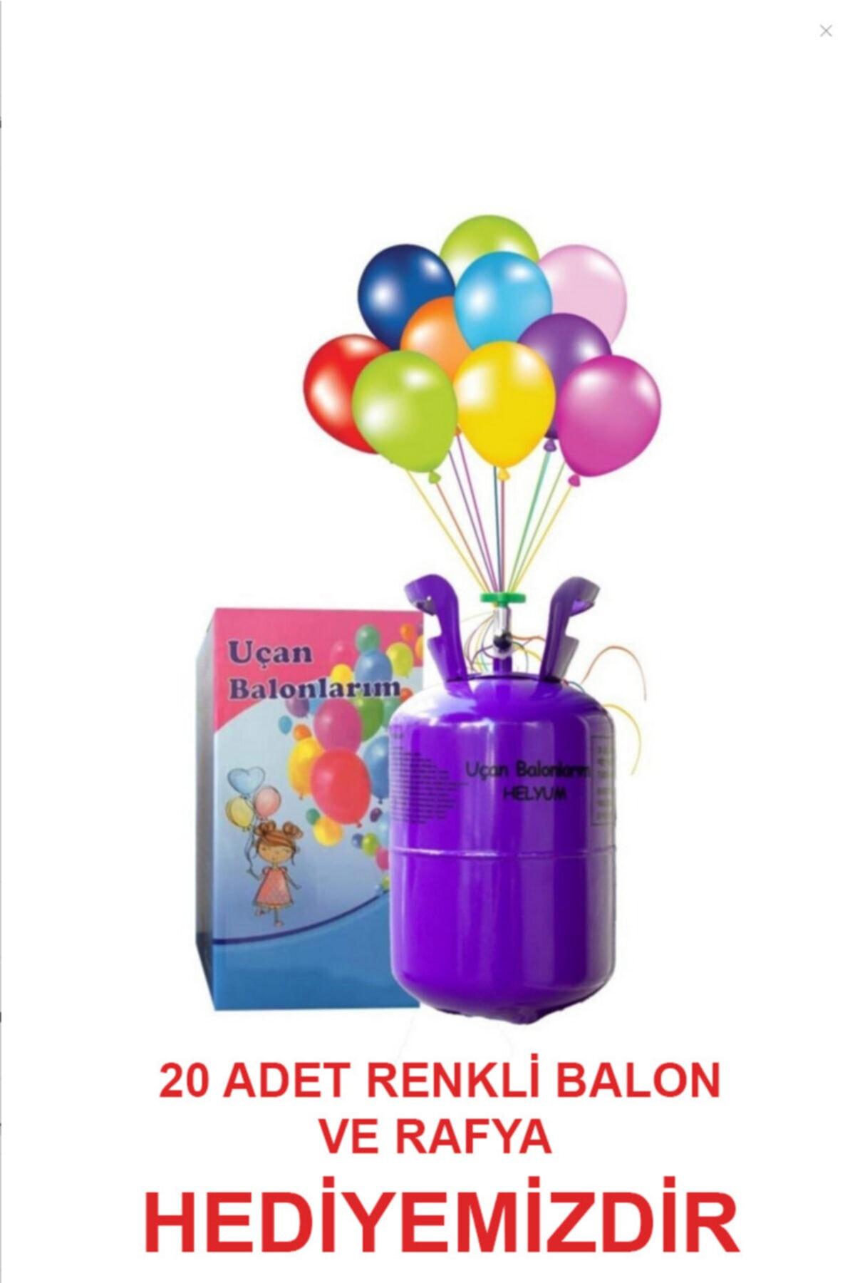 Helyum Tüpü Kullan At (balon Gazı 20 Adet Metalik Karışık Renk Balon Ve Ipi Ile Birlikte)