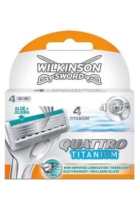 Wilkinson Quattro Titanium Precision 4 Lü Yedek 0
