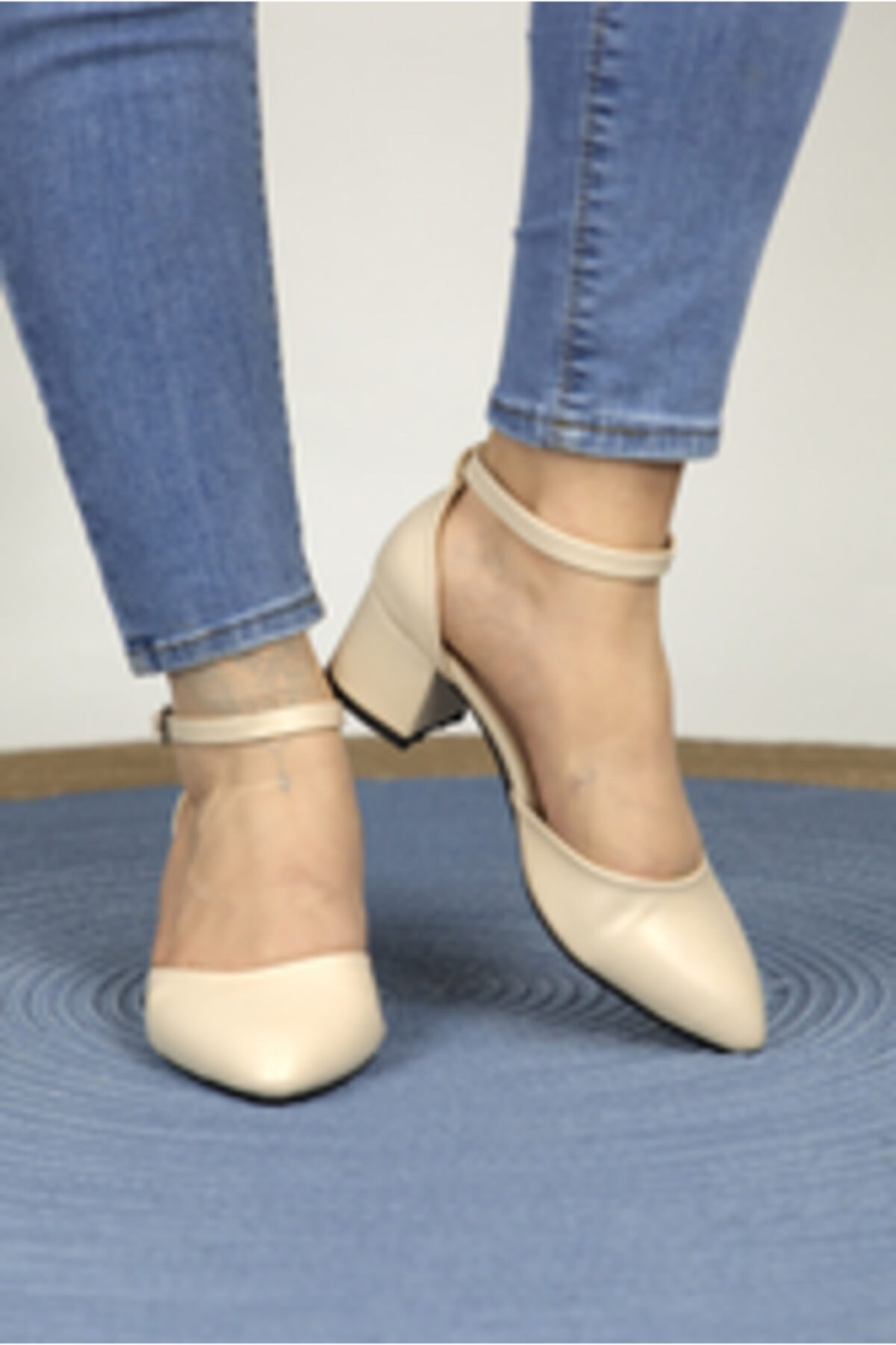 MODANOİVA Kadın Bej Topuklu Ayakkabı 1006-119-0002-a03